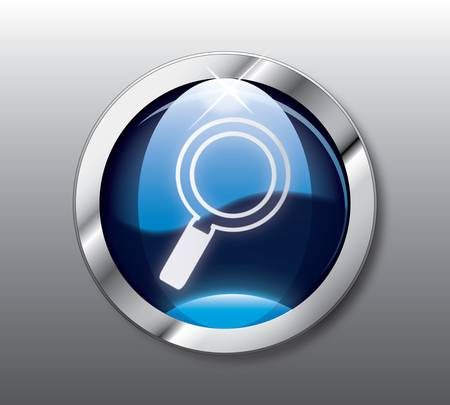 Blue search button Ilustração