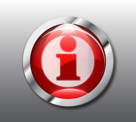 Red  info button Stock Vector - 9376049
