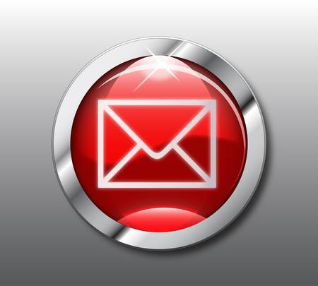 Red  email button Stock Vector - 9376057