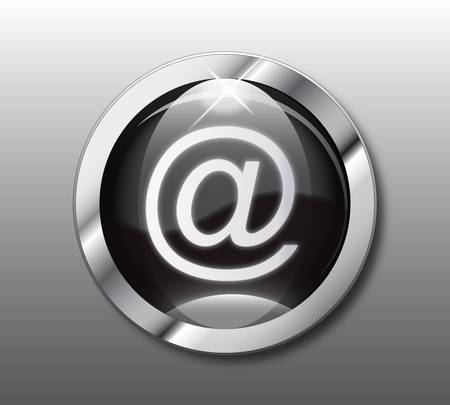 Black email button Vector