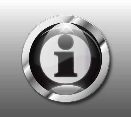 Black information button Stock Vector - 9376066