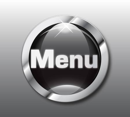 menu button: Black menu button Illustration