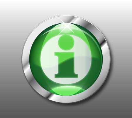 Green information button Stock Vector - 9437181