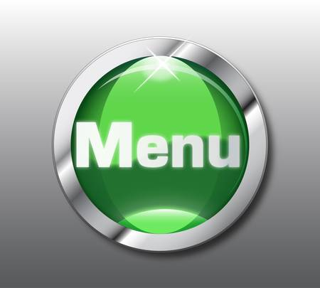 menu button: Green menu button Illustration