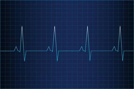 electrocardiogram: Elettrocardiogramma Vettoriali