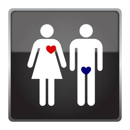 Male and female love sign