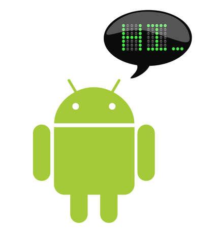 talking robot: Android con cuadro de charla