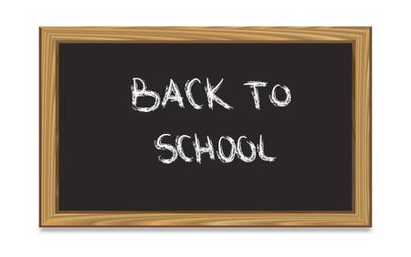 Blackboard with back to school text-vector Stock Vector - 9437176