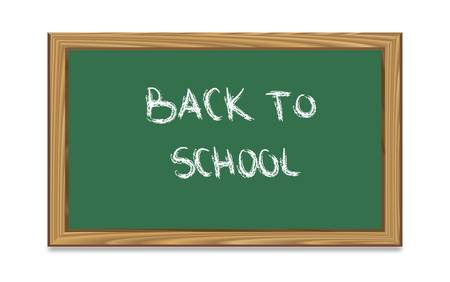 Blackboard with back to school text-vector Stock Vector - 9435557