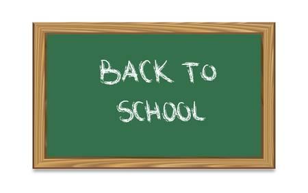 Blackboard with back to school text-vector Stock Vector - 9435557
