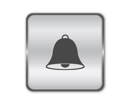 luninous: Chrome bell button vector