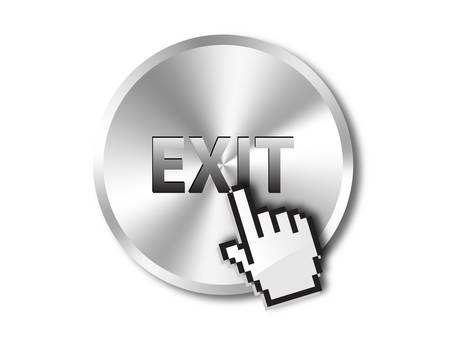 logout: Exit icon  Illustration