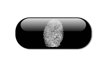 finger print: Vector of a finger print Illustration