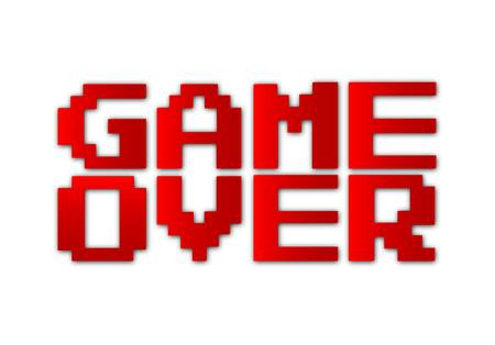 game design: Game over-vector Illustration