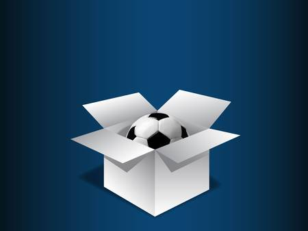 surprise box: Gift box with football vector