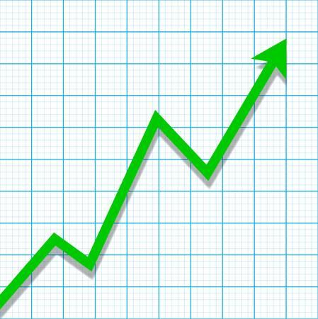 profit loss: Graph paper with profit loss chart