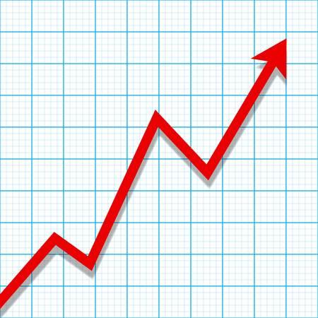 verlies: Millimeterpapier met winst het verlies grafiek