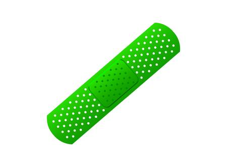 adhesive plaster: Green plaster