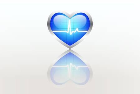 paliza: Hogar con se�al de ECG Vectores