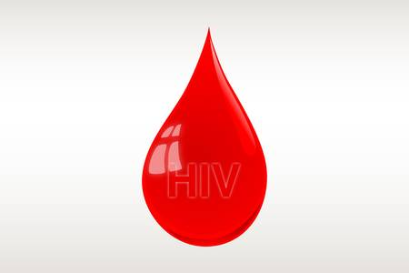 hiv: Blood drop illustration-HIV Illustration