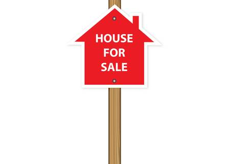 house for sale: House for sale vector illustration