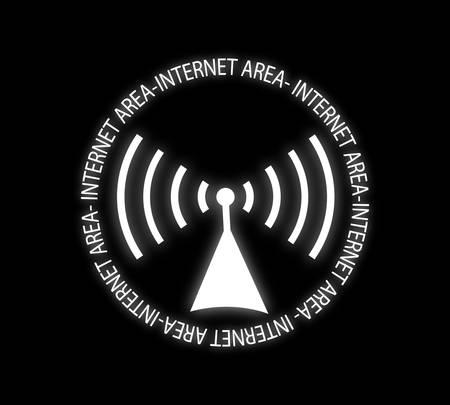 the internet: Illustrazione vettoriale-zona Internet Vettoriali
