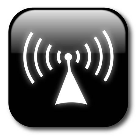Black wireless button Vector