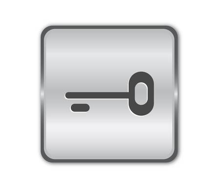 restricted access: Chrome secure button Illustration