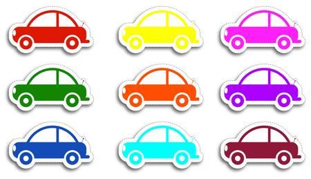 Vector car stickers Stock Vector - 9919834