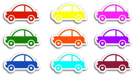 sticky paper: Vector car stickers
