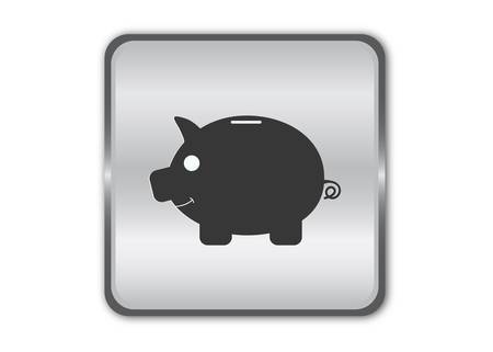 Piggy bank - Vector illustration Vector