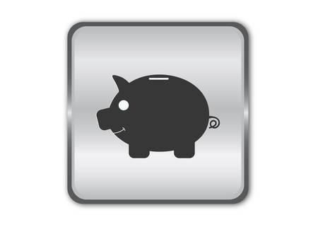 Piggy bank - Vector illustration