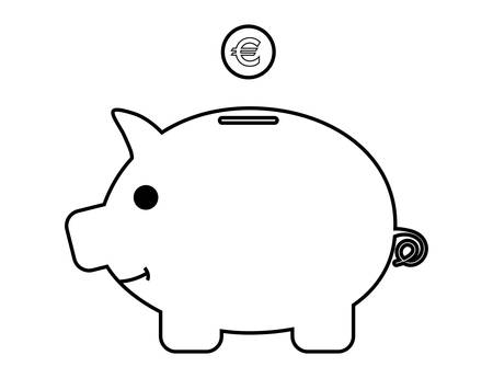 stock clipart icons: Piggy bank - Vector illustration