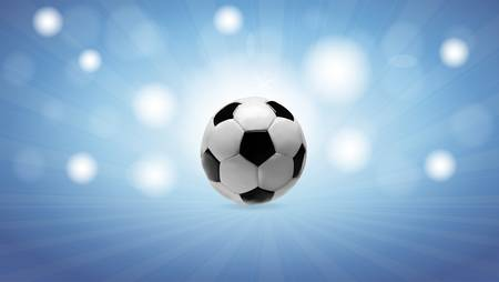 Blue background with soccer ball Stock Vector - 15277301