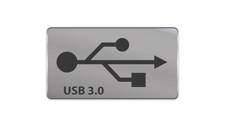 USB 3.0 metal sign Vector
