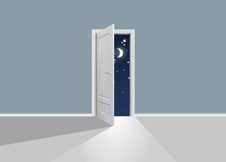 Opened door Vector