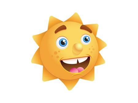 Sun-vector illustration Stock Vector - 17133830