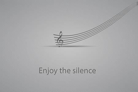 Enjoy the silence-vector illustration Stock Vector - 20869445