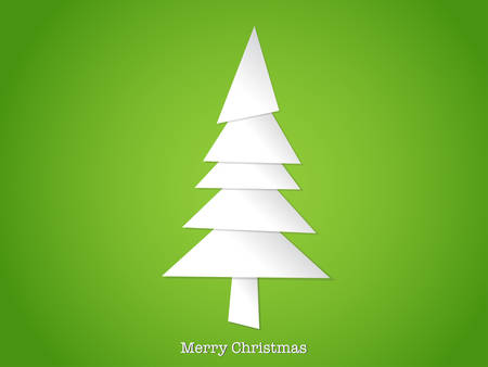 Paper cut christmas tree Vector