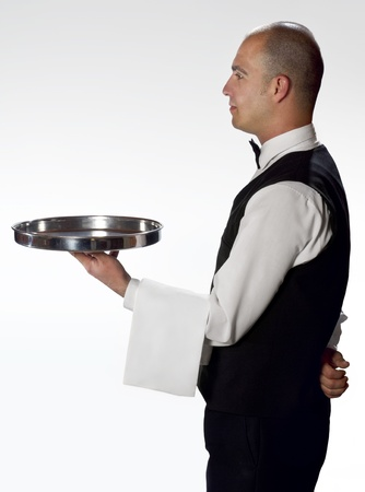 Waiter with tray profile photo