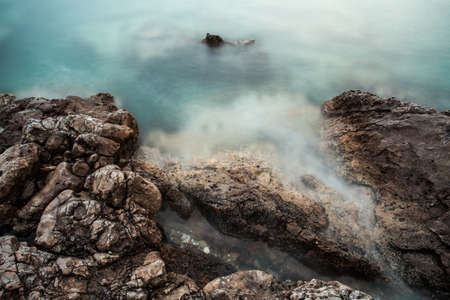 natural force: Closeup photo of the sea and rocks