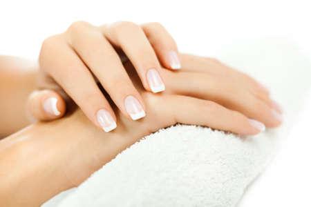 Beautifully manicured fingernails