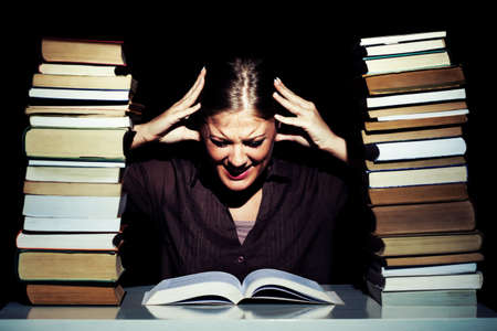 frustrated student: Frustrated student learning