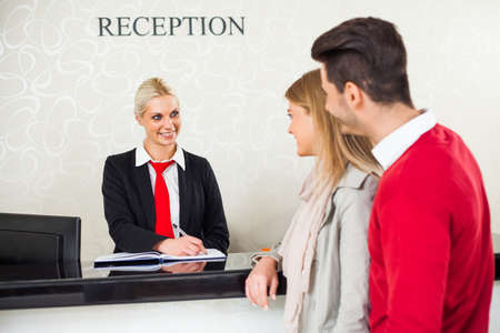 hotel reception:
