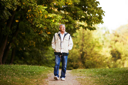 person walking: Active retirement