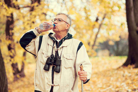 intentionally: Active retirement, intentionally toned image. Stock Photo