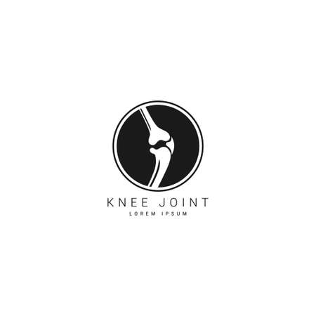 Set of Knee icon vector design template. Knee joint icon vector on white isolated background.