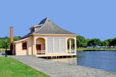 Boat House near Albemarle Sound.