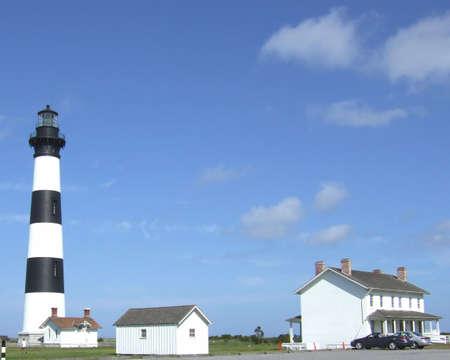Bodie Island Lighthouse in North Carolina. Archivio Fotografico