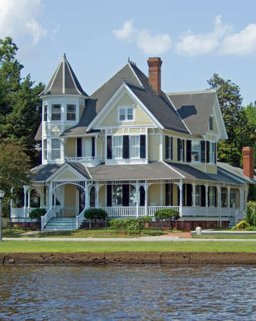 restored: A fully restored Victorian House. Stock Photo